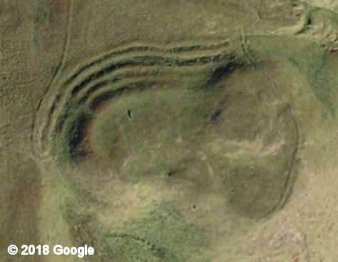 Evelick hill fort from Google Earth