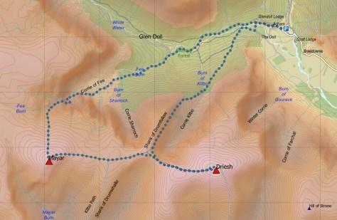 Mayar-Driesh route