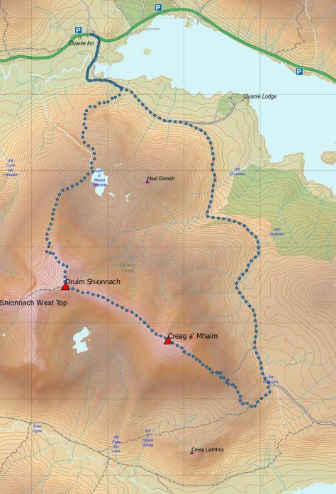 Mhaim-Shionnach route