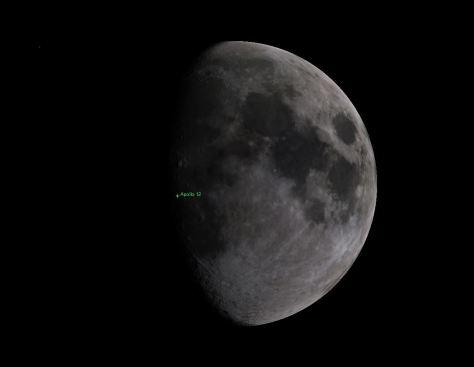 Moon phase during Apollo 12 landing