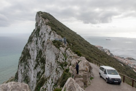 Upper Rock road, Gibraltar