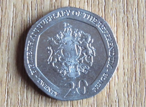 Gibraltar commemorative 20p coin