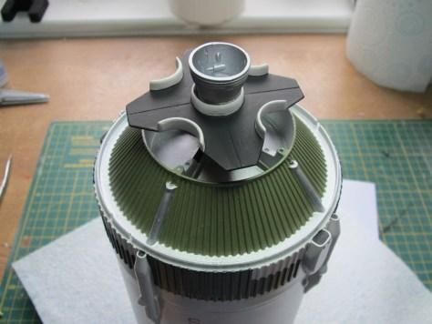 Revell 1/96 Saturn V S-II heat shield installation 1