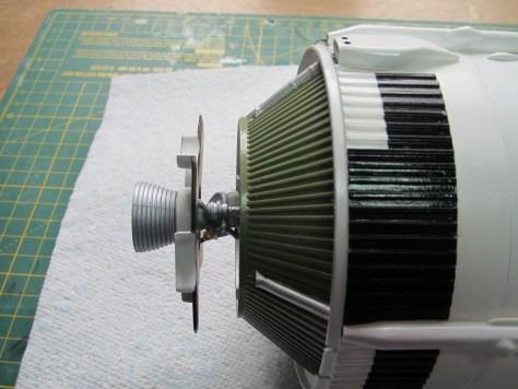 Revell 1/96 Saturn V S-II heat shield installation 2
