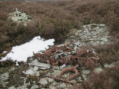 Avro Anson wreckage, Gallow Hill