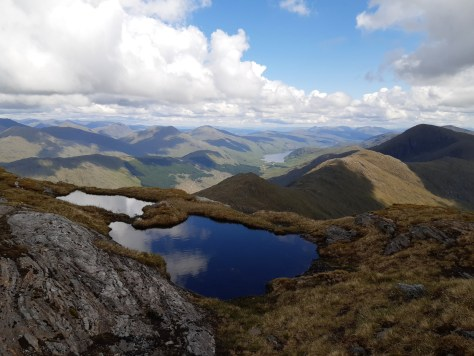 Loch Arkaig and the ridge to Sgurr Thuilm
