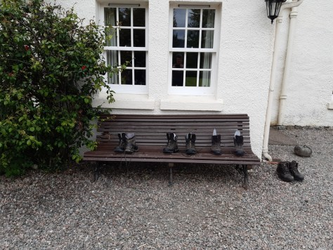 Boots drying at Fassfern