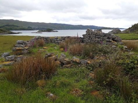 Ruined cottage, Peanmeanach