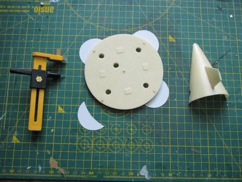 NewWare S-IC heatshield and fairing, scratch built additions