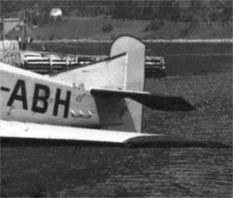 Junkers F-13W LN-ABH rudder