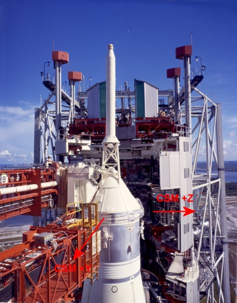 YZ axes of CSM on launch pad