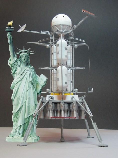 Von Braun lander and Statue of Liberty