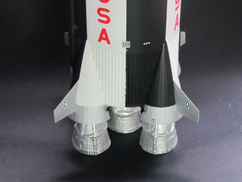 Position and fin labels, Saturn V