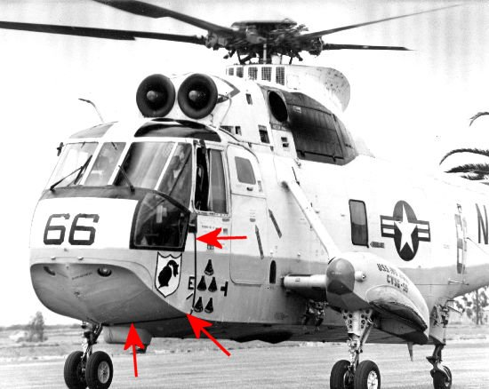 Cable on port side of cockpit, SH-3D