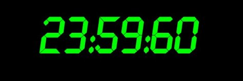 Leap second clock