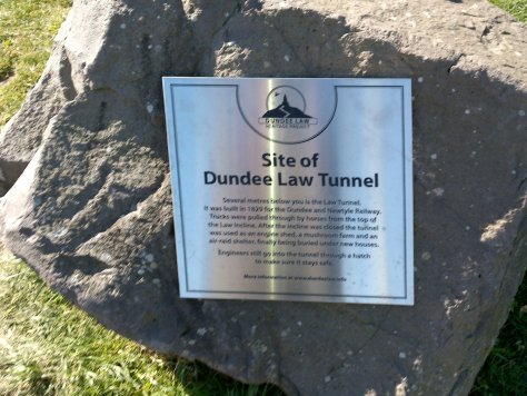 Dundee Law Tunnel plaque