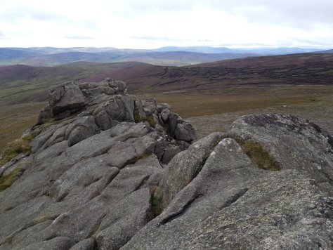 Looking south from top of Clachnaben tor