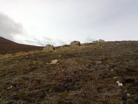 Prominent boulders on Threestane Hill