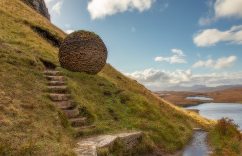 Stone sphere, Knockan Crag