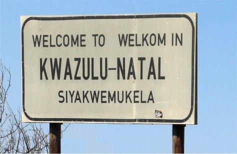 Trilingual welcome sign, KwaZulu-Natal