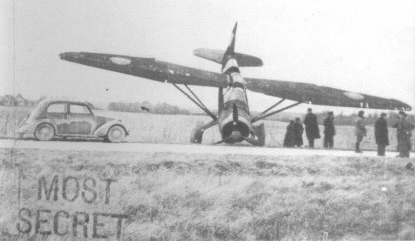 John Nesbitt-Dufort's crashed Lysander, T1508, front
