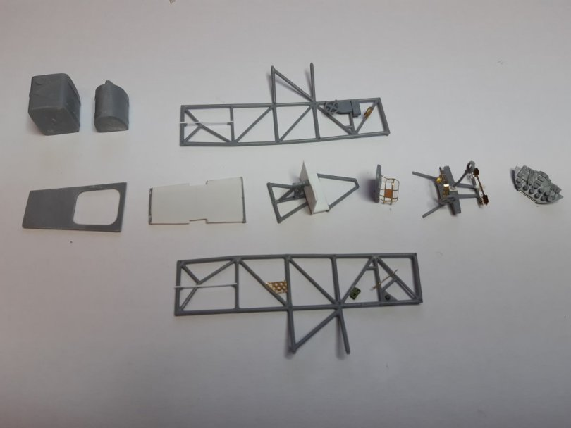 Eduard 1/48 Lysander, general interior parts assembly