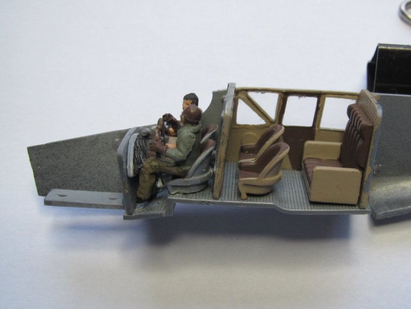 Revell 1/72 Junkers F13 interior in place