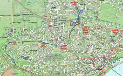 Dundee-Newtyle railway route (Dundee)
