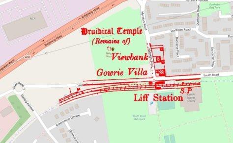 Location of Liff Station, Dundee-Newtyle Railway