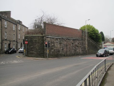 Remnant of Dundee-Newtyle railway bridge, Lochee, Dundee