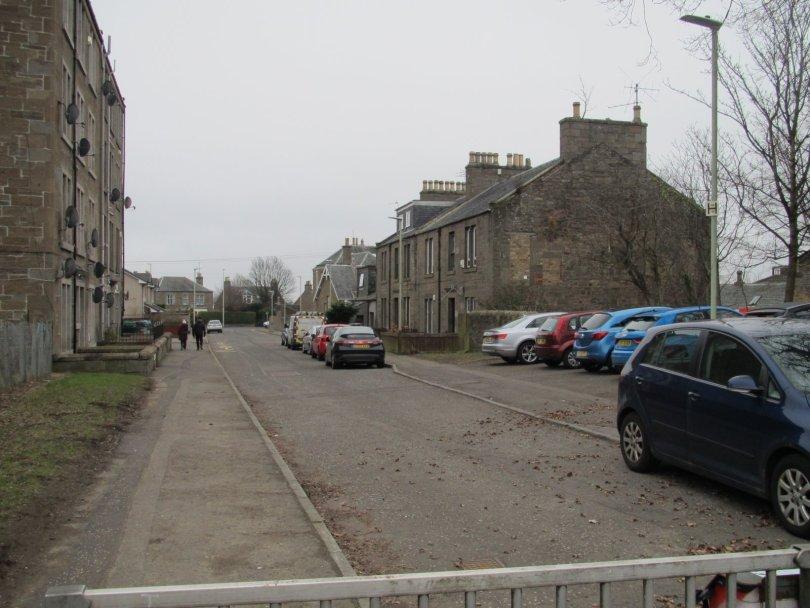 Site of old railway bridge, School Road, Dundee