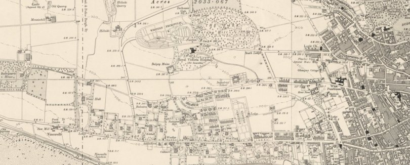 Screengrab of Ordnance Survey six-inch map, 1903