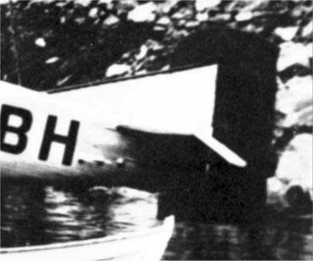 LN-ABH rudder, black painted