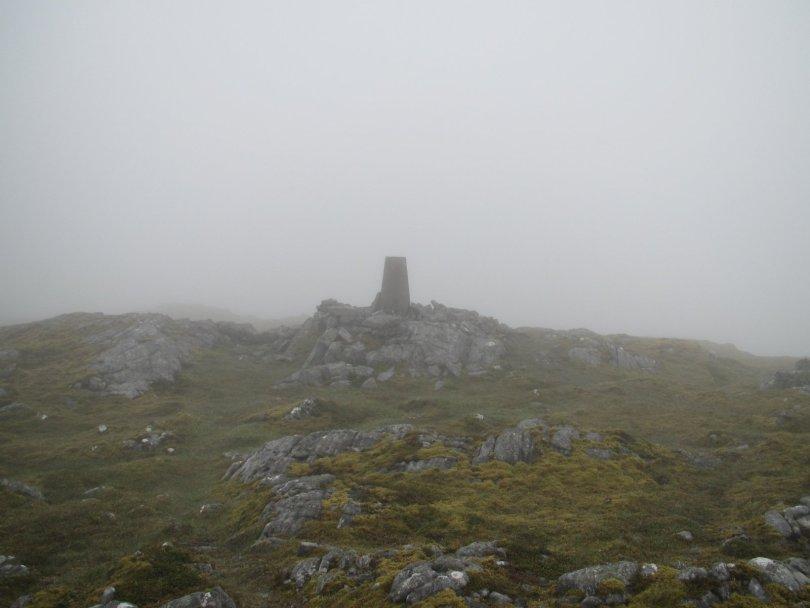 Trig point of Beinn a' Chuallaich