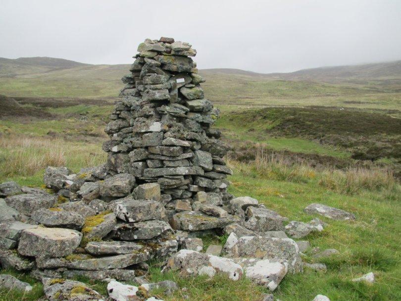 Alick Reynolds memorial cairn above Kinloch Rannoch