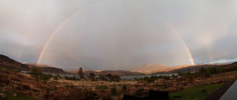 Rainbow at sunset, Kylerhea