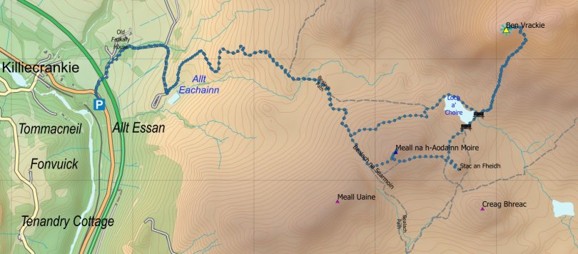 Vrackie route