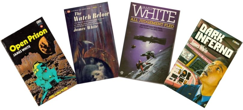 Covers of four novels by James White