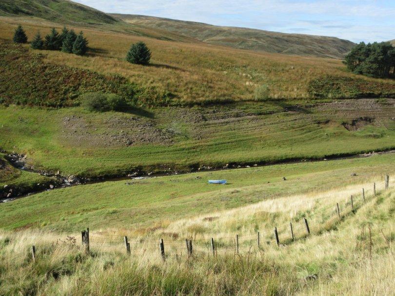Broich Burn course, usually submerged in Upper Glendevon Reservoir