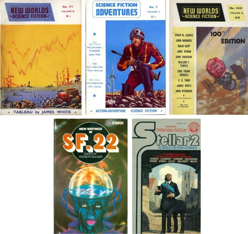 """Original publication covers of James White """"Sector General"""" short stories"""