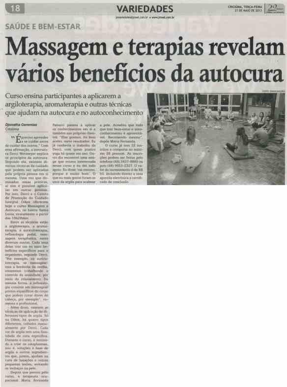 Curso no Oikos é destaque no Jornal da Manhã, de Criciúma
