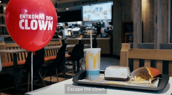 "5. ""ESCAPE THE CLOWN"": BURGER KING SFRUTTA IL FILM ""IT"" SBEFFEGGIA MC DONALD'S"