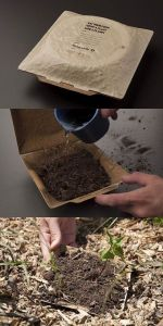 Packaging in cui troviamo i semi da piantare sotto l'etichetta adesiva