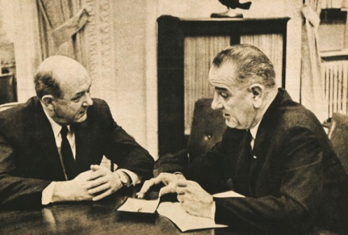 Dean Rusk with LBJ - Of the many thorns, Cuba was the thorniest.