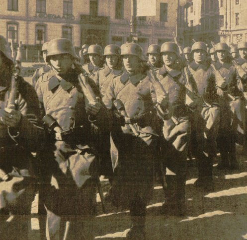 German Troops in Oslo - Going from Sitzkrieg to Blitzkrieg in less than a day.