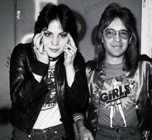 Rodney with Joan Jett - the quintessential fan's fan.