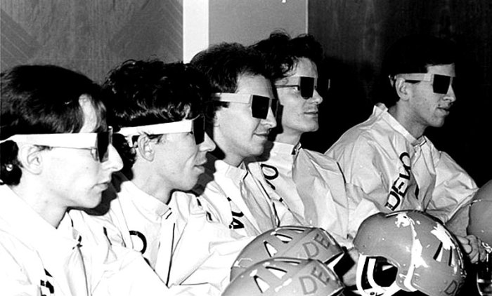 Devo - daring to be just a few degrees more different than the rest of the room.