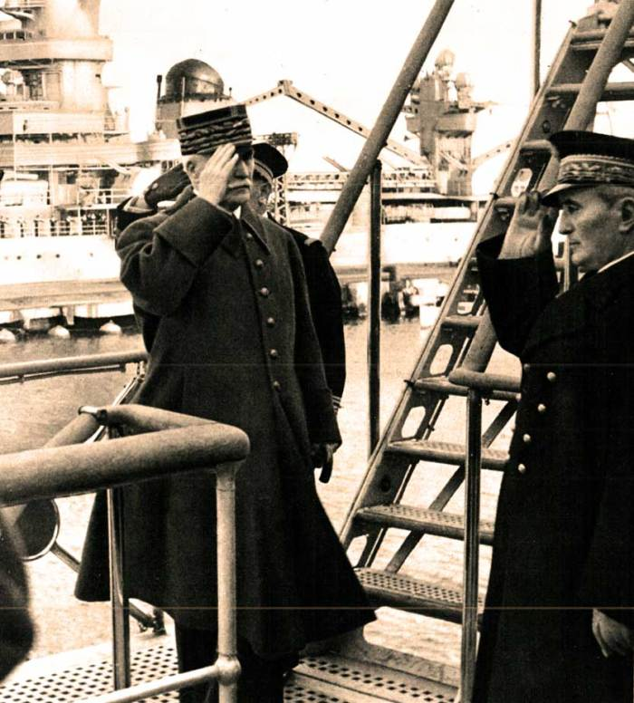 Marshal Petain and Admiral Darlan - Taking orders from Berlin.