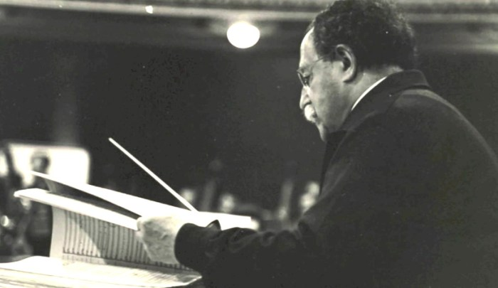 Pierre Monteux - rehearsing the Rite of Spring - the same one he got caught in the riot over.