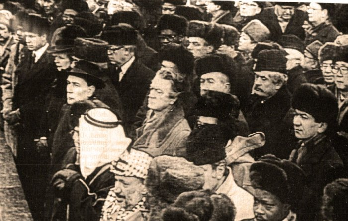 A veritable who's who at the Chernenko Funeral.